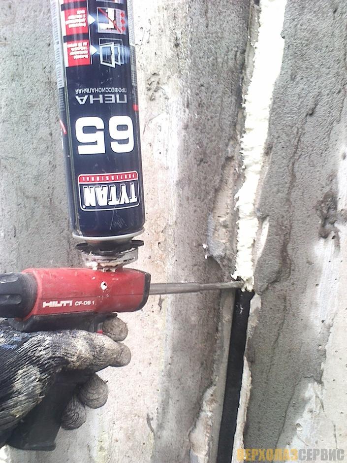 Стык в батарее герметизация
